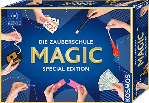 KOSMOS Die Zauberschule Magic Special Edition, einfach Zaubern lernen, 100 Tricks, viele Zauber-Utensilien, Amazon Exclusive, Zauberkasten für Kinder ab 8 Jahre und Einsteiger, Online-Erklär-Videos