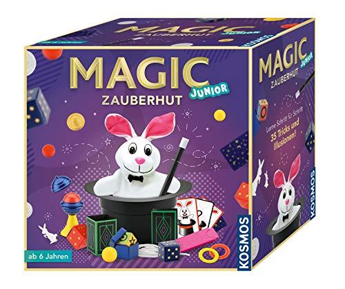 KOSMOS 680282 - Magic Zauberhut, Lerne einfach 35 Zaubertricks und Illusionen, Zauberkasten mit Zauberstab und vielen weiteren Utensilien, für Kinder ab 6 Jahre