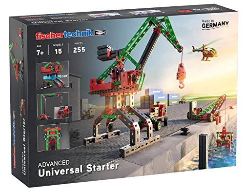 fischertechnik 536618 Konstruktionsspielzeug Universal Starter - das Bauset für junge Konstrukteure ab 7 Jahren - Technik im Alltag durch 15 Modelle spielerisch verstehen