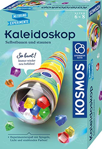 KOSMOS 657987 Kaleidoskop, Selbst bauen und staunen, Experimentier-und Bastel-Set mit Spiegeln, Licht und strahlenden Farben, wieder befüllbar, Mitbringexperiment zu Optik, Für Kinder ab 6 - 8 Jahre