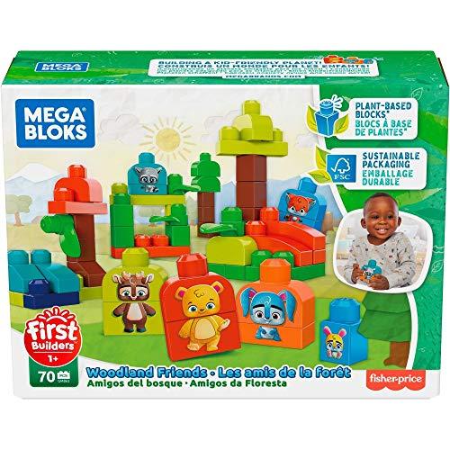 Mega Bloks GMB63 - Waldfreunde Bausteine aus pflanzlichen Rohstoffen (70 Stück)