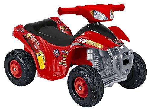 FEBER 800011149 - Disney Cars 3, Quad Motorrad Spielzeug, für Kinder 18 Monate bis 3 Jahre, 6V, rot