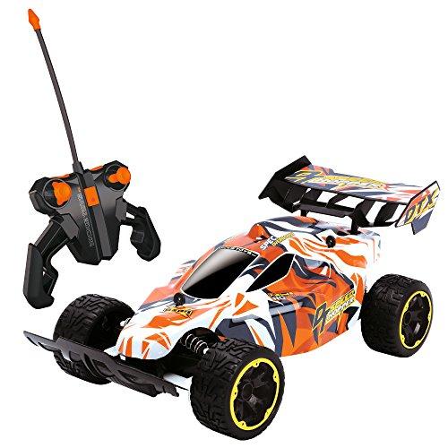 Dickie Toys 201119465 RC Speed Hopper, ferngesteuertes Spielzeugauto mit gefederten Radgabeln für Jungen und Mädchen ab 6 Jahren, 2-Kanal Funkfernsteuerung, Rennauto mit 10 km/h für Stunts,...