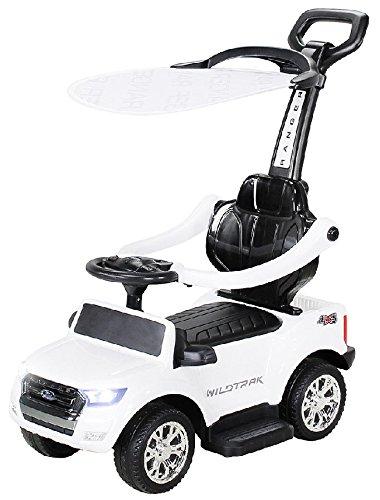 Unbekannt Rutschauto Ford Ranger Lizenz Rutscher Kinderauto Rutschfahrzeug Schiebeauto 4in1 mit Akku+Motor (weiß)