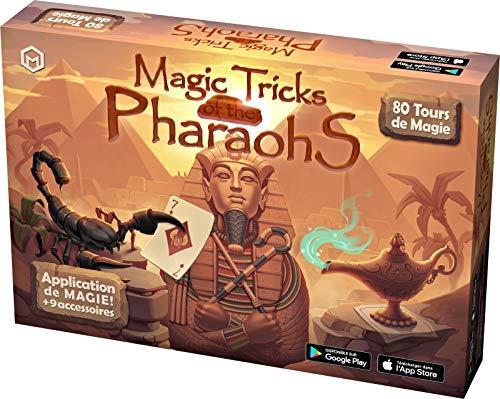 Mikael Montier - Digitaler Zauberkasten (80 Zaubertricks) - Magic Tricks of The Pharaohs - Zauberkoffer mit Zauber App (iOS und Android) für Kinder, Teenagern und Erwachsenen - Geschenk Weihnachten