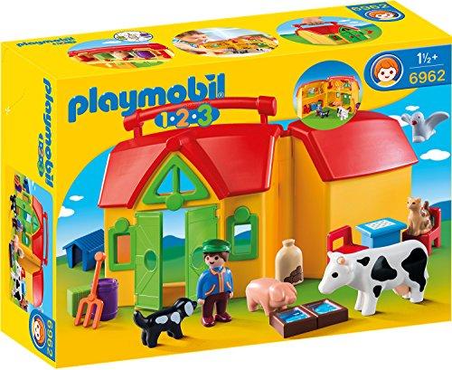 PLAYMOBIL 1.2.3 - 6962 Mein Mitnehm-Bauernhof, ab 1,5 Jahren