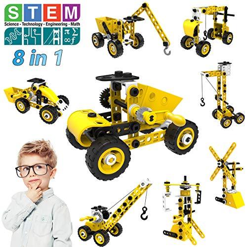 STEM Bauspielzeug, 8 in 1 Bausteine Konstruktion Spielzeug für 5 6 7 8 9 10+ Jahre alte Jungen & Mädchen,100 Stück Kreatives Pädagogische Spielzeug Weinachtsgeschenk Geburtstagsgeschenke für...