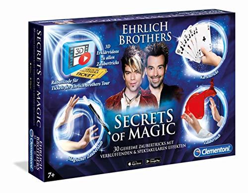 Clementoni 59048 Ehrlich Brothers Secrets of Magic, Zauberkasten für Kinder ab 7 Jahren, magisches Equipment für 30 Zaubertricks, inkl. 3D Erklärvideos, als Weihnachtsgeschenk