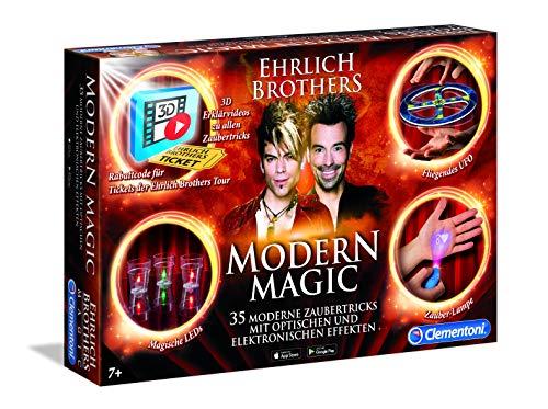 Clementoni 59050 Ehrlich Brothers Modern Magic, Zauberkasten für Kinder ab 7 Jahren, magisches Equipment für 35 moderne Zaubertricks, inkl. 3D Erklärvideos, als Weihnachtsgeschenk