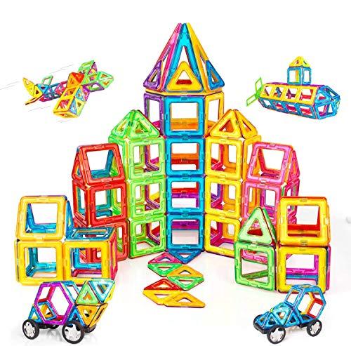 Condis Magnetische Bausteine 120 Teile Magnetspielzeug Magnete Kinder Magnetbausteine Magnet Spielzeug Kinder Magnetspiele für Kinder Kinderspielzeug Puzzle Geschenk ab 3 4 5 6 7 8 Jahre Junge...