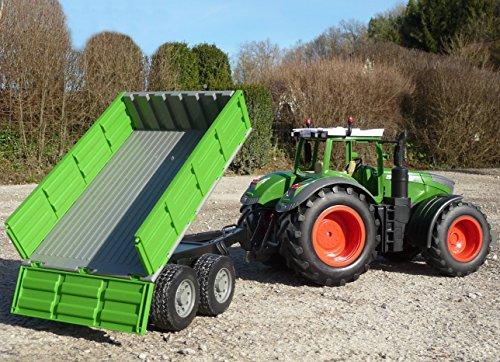 WIM-Modellbau RC Traktor FENDT 1050 + Kipp-Anhänger in XL Länge 70cm Ferngesteuert