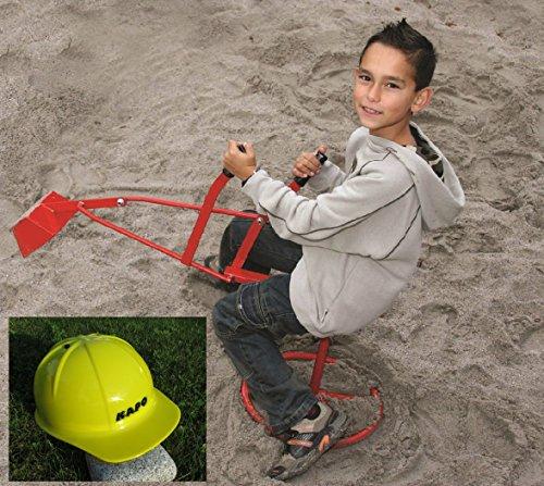 Original Metall Sandbagger & 1 x Bauhelm Gratis 'Kindergarten Qualiät'