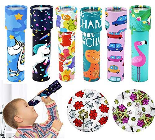 BESLIME 6 Stücke Kaleidoskop, Klassisches Kaleidoskop Spielzeug, Klassisches Papier-Kaleidoskop, Klassisches Spiel Lernspielzeug, Kinder Party Spielzeug Party Set (Zufällige Farbe)