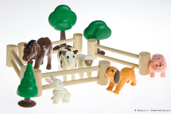Bauernhof-Spielzeug